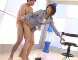 Seductive AV model Nanami Kawakami endures oral session