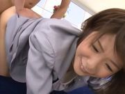 Seductive AV model Nanami Kawakami endures oral session