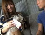 Attractive Japanese AV model makes a perfect handwork picture 4