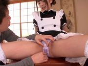 Extremely sexy Japanese maid Tsubasa Amami squirtshot asian pussy, asian ass}