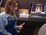 Busty Japanese milf Tsubasa Amami seduces and fucks her pal picture 14
