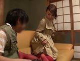 Tit fuck and facesitting by Asian milf Reiko Nakamori picture 13