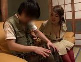 Tit fuck and facesitting by Asian milf Reiko Nakamori picture 5