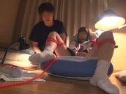 Yummy Japanese AV model Yuri Shinoyama is gagged and drilled