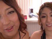 Nice tits chicks Naho Hazuki and Yuri Honma group action