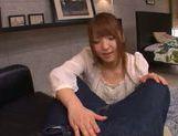 Frisky Japanese redhead Shiori Kamisaki makes hot titfuck picture 12