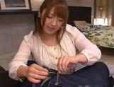Frisky Japanese redhead Shiori Kamisaki makes hot titfuck picture 15