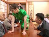 Stunning Yuuna Mizumoto gets into a hot gangbang picture 10
