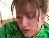 Stunning Yuuna Mizumoto gets into a hot gangbang picture 11