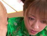 Stunning Yuuna Mizumoto gets into a hot gangbang picture 14