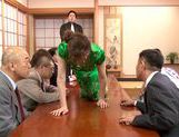 Stunning Yuuna Mizumoto gets into a hot gangbang picture 9