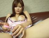 Lustful Japanese AV model relieves her sexual tension picture 11