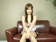Lustful Japanese AV model relieves her sexual tension