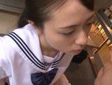 Hot and sexy Japanese teen Yuri Hasegawa gives head picture 12