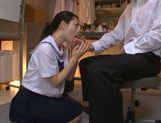 Hot and sexy Japanese teen Yuri Hasegawa gives head