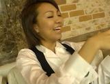 Asian doll Hikari having a rough fuck session