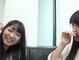 Japanese AV Model pussy licking in the best lesbian traits picture 14