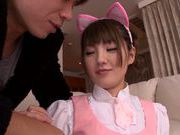 Sugary Japanese AV girl Tsubasa Amami has pleasure of cock
