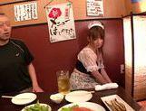 Pretty Japanese redhead Hana Nonoka likes blowjob action picture 11