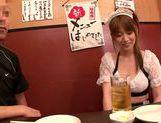 Pretty Japanese redhead Hana Nonoka likes blowjob action picture 13