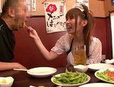 Pretty Japanese redhead Hana Nonoka likes blowjob action picture 14