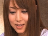 Akiho Yoshizawa Japanese doll gets a hot cum facial picture 13