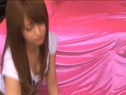 Akiho Yoshizawa Japanese doll gets a hot cum facial