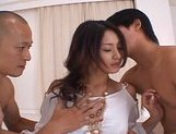 Risa is a hot Asian model who enjoys her threesomes picture 2
