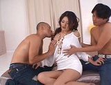 Risa is a hot Asian model who enjoys her threesomes picture 8