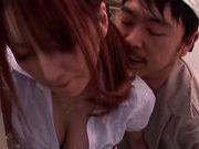 Kaede Matsushima gives on hell of a blowjob