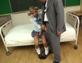 Japanese schoolgirl Julia Tachibana gets fucked hard picture 4