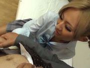 Japanese schoolgirl Julia Tachibana gets fucked hard