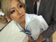 Japanese schoolgirl Julia Tachibana gets fucked hard
