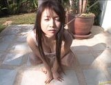 Chihiro Kawaoka Asian chick gets her pussy spread wide and teased