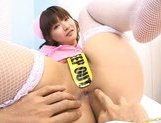 Steaming Asian beauty Akane Ohzora enjoys sticks in her anal