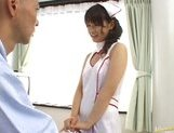 Beautiful Asian nurse Akane Ohzora enjoys hardcore anal fucking