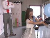 Shameless teacher Minami Kojima gives a blowjob lesson picture 13