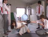 Shameless teacher Minami Kojima gives a blowjob lesson picture 14