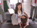 Shameless teacher Minami Kojima gives a blowjob lesson picture 3