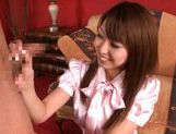 Soyouko Akiyama Pretty Asian chick gets bukkake picture 3