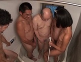 Hot skinny girl with shaved pussy Uta Kohaku in a group sex action