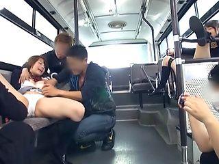 Japanese AV Models teens in hardcore sex in the public bus