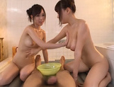 Wicked Asian hotties Shiori Yamate and Mao Hamasaki share cockasian sex pussy, hot asian girls}