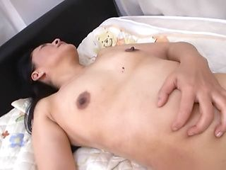 Japanese AV Model hot milf riding on a big black cock