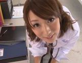 Young schoolgirl Himari Wakana enjoys blowjob