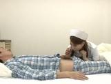 Crazy Japanese nurses are insatiable cock suckers teasing patients picture 12