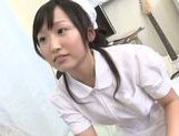 Naughty Asian nurse Hikari Matsushita enjoys sucking cock picture 3