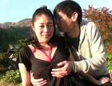 Hot married chick with hairy pussy Ayumi Shinjyou enjoys outdor sex