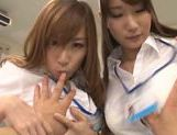Alluring Japanese AV models are getting a hot fuck in the office picture 11