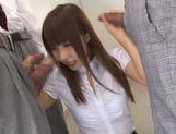 Stunning Asian teacher Shunka Ayami pleases three dudes picture 13